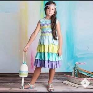 Girls Lemon loves Lime Petunia Tiered Dress Size 6
